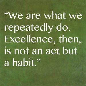 Inspirational quote by ancient Greek philosopher Aristotle